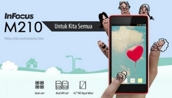 InFocus M210 Spesifikasi, Android Quad Core Kamera 8 MP 1,5 Juta