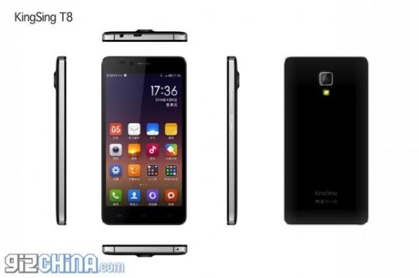 KingSing T8, Kloningan Xiaomi Mi4 Bertenaga Octa Core 1 Jutaan
