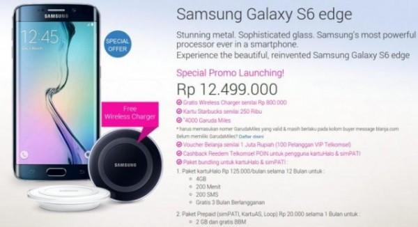 Samsung Galaxy S6 Edge 64 GB, Pre Order di Tanah Air Harga 12,5 Juta