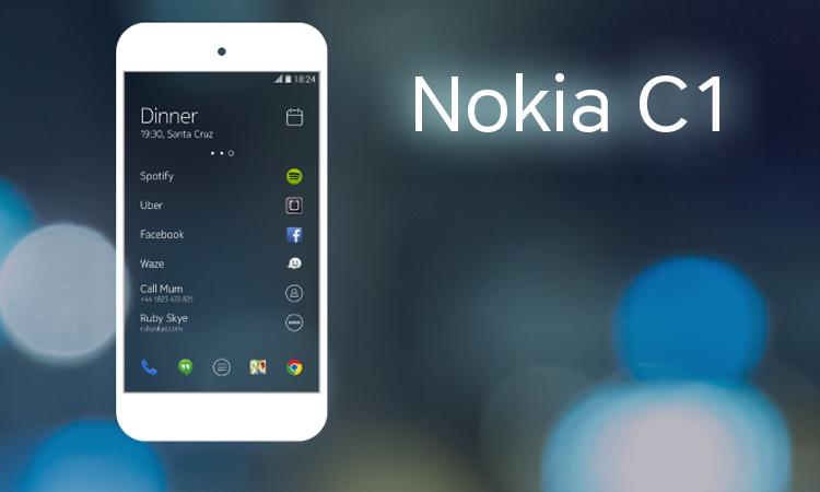 Spesifikasi Nokia C1, Layar 5 inci OS Android Lollipop